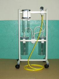 TROLLEY WITH REGULATOR FOR VACUUM PIPELINES SYSTEM